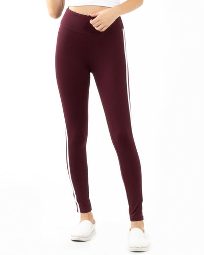 Nirvana High Waist Yoga Pants S / Burgundy Bottoms