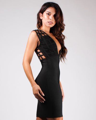 No Limits Caged Bodycon Dress Dresses