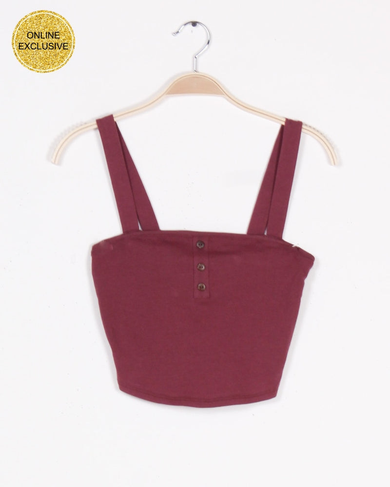 No Risk Magic Crop Top (Mauve) Mauve / S Tops
