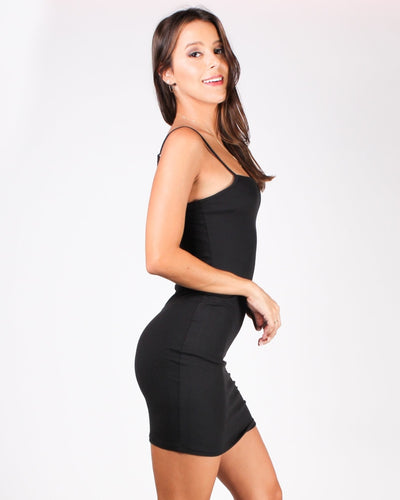 No What Ifs Bodycon Dress (Black) Dresses