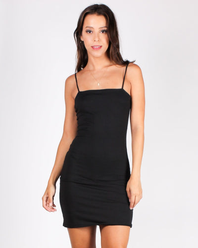 No What Ifs Bodycon Dress (Black) Black / S Dresses
