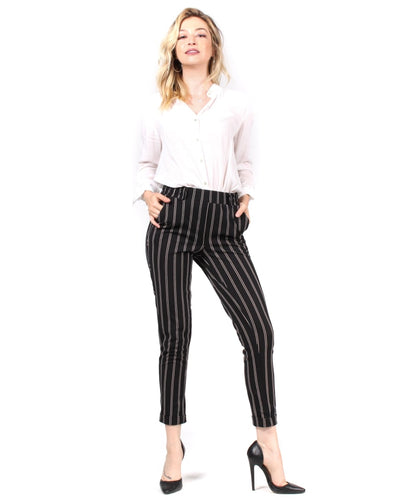 Not So Simple 9 To 5 Slacks S / White Stripes