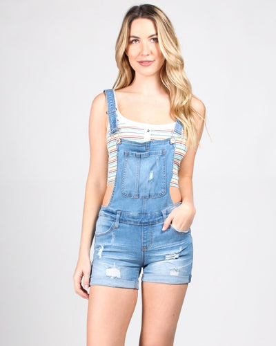 On Top Of The World Overalls S / Light Medium Denim