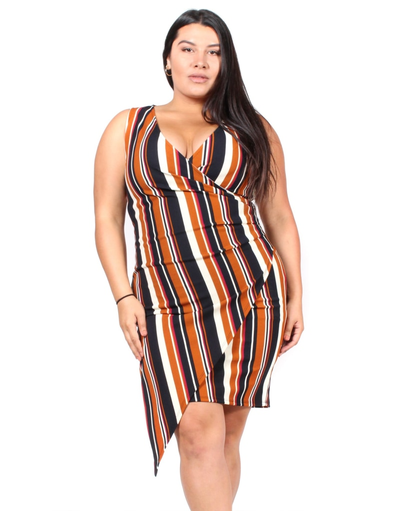 One In A Million Plus Dress 1X / Striped