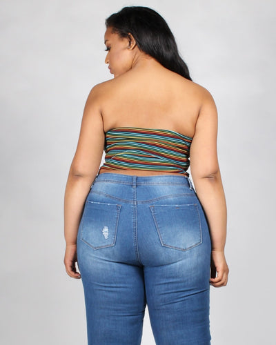Over The Rainbow Tube Plus Top Tops