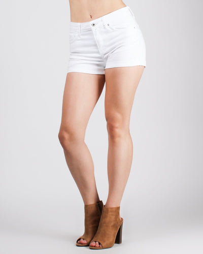 Places To Go High Waisted Shorts White / S Bottoms