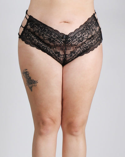 Pretty Little Thing Called Lace Plus Panties Black / 1X Intimates