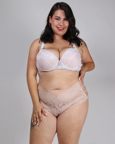 Pretty Little Thing Called Lace Plus Panties Pastel Peach / 1X Intimates