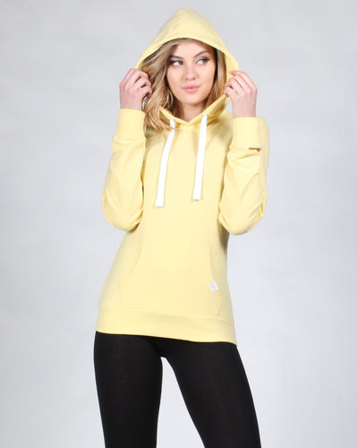 Reaching For The Top Hooded Sweater S / Pastel Yellow Tops