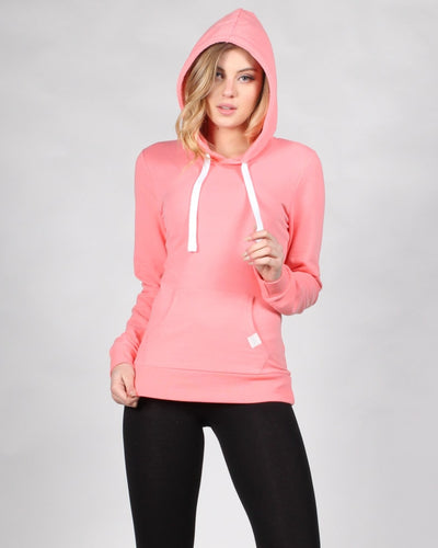 Reaching For The Top Hooded Sweater S / Peach Tops