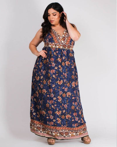 Ready for Take-off Paisley Maxi Plus Dress