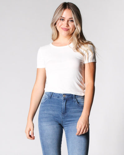 Reap The Rewards Ribbed Top S / White