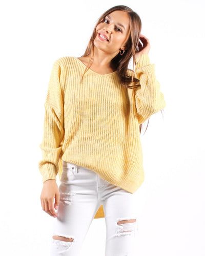 Remix And Blend Sweater S/m / Pastel Yellow