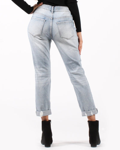 Remix And Go Low Rise Distressed Cuffed Jeans