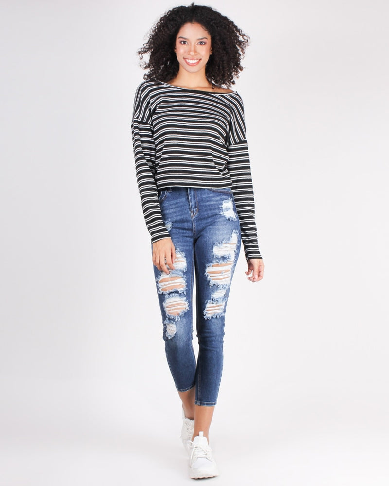Running Toward Your Dreams Skinny Jeans (Dark Wash) Dark Wash / 0 Bottoms