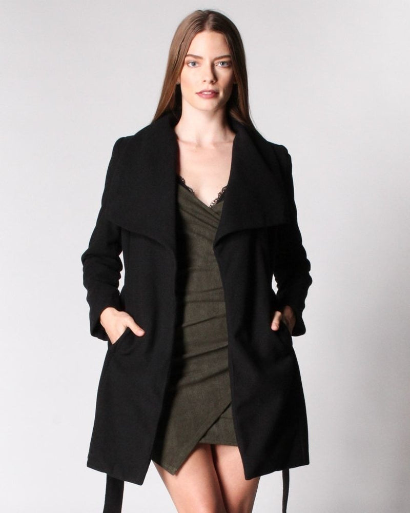 Seasons Change Trench Coat (Black) Black / S Outerwear