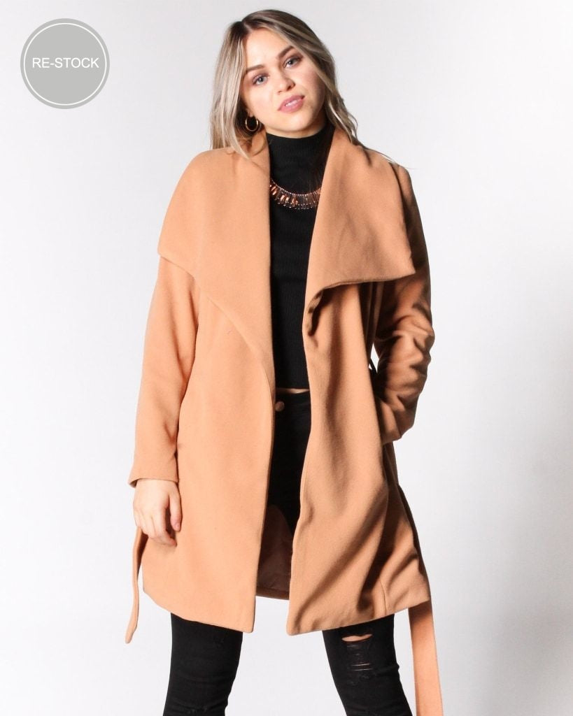 Seasons Change Trench Coat (Camel) Camel / S Outerwear