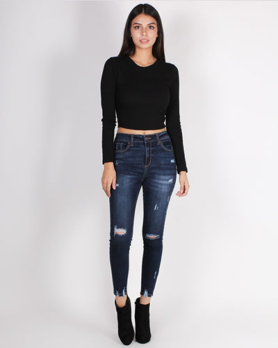 Self-Love Club Crop Top (Black) Tops