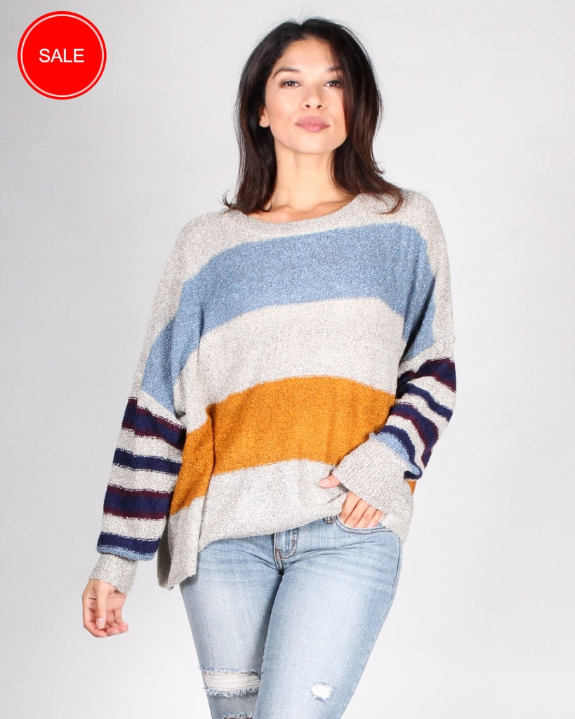 e30489c57a8 Seven Wonders Sweater S   Striped Oatmeal Tops