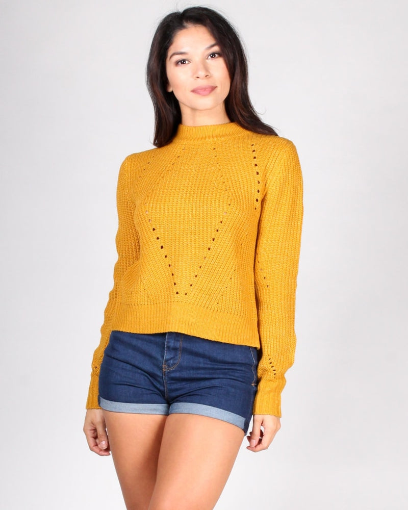 Sexy Back Sweater S / Mustard Tops