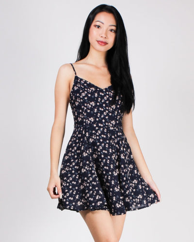 Shine Bright Floral Sundress Navy / S Dresses