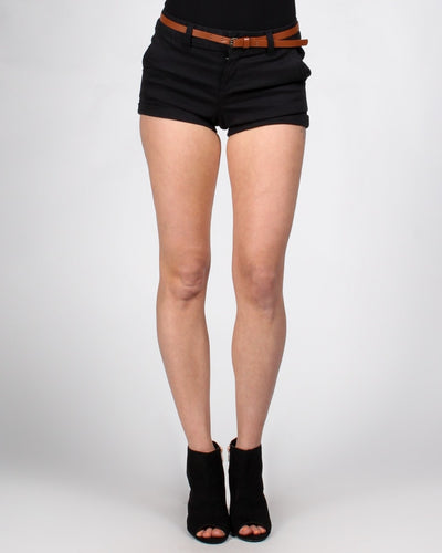 Short Shorts With Belt S / Black Bottoms
