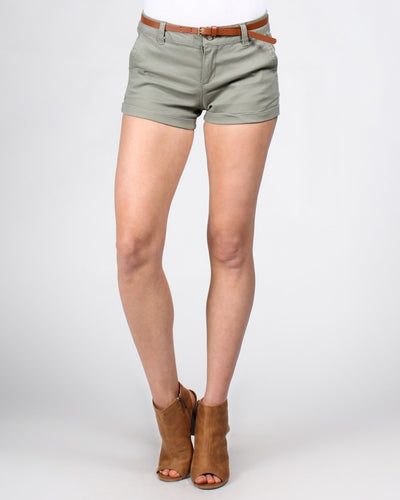 Short Shorts With Belt S / Olive Bottoms