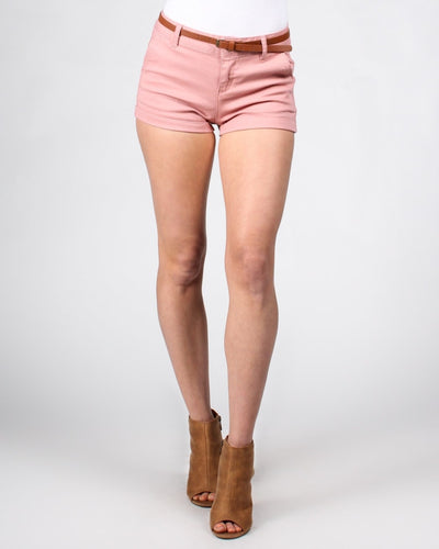 Short Shorts With Belt S / Pink Bottoms