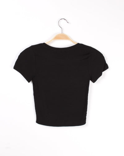 Show Them What Youre Made Of Crop Top (Black) Tops