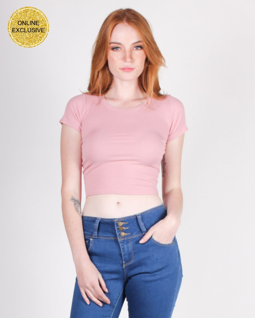 Show Them What Youre Made Of Crop Top (Rose) Rose / S Tops