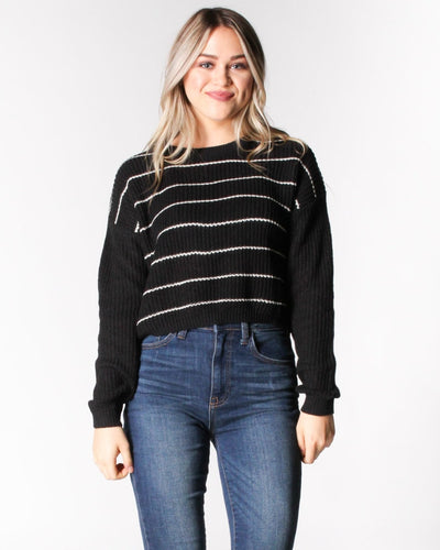 Simply Striped Sweater S / Black