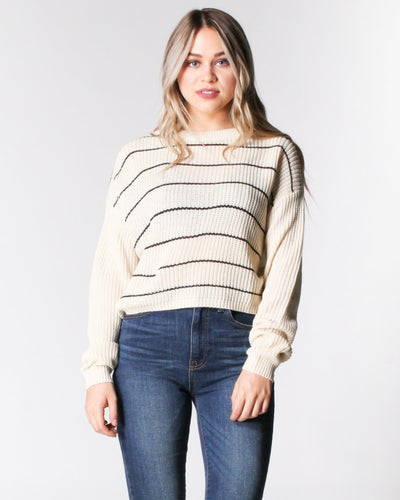 Simply Striped Sweater S / Cream