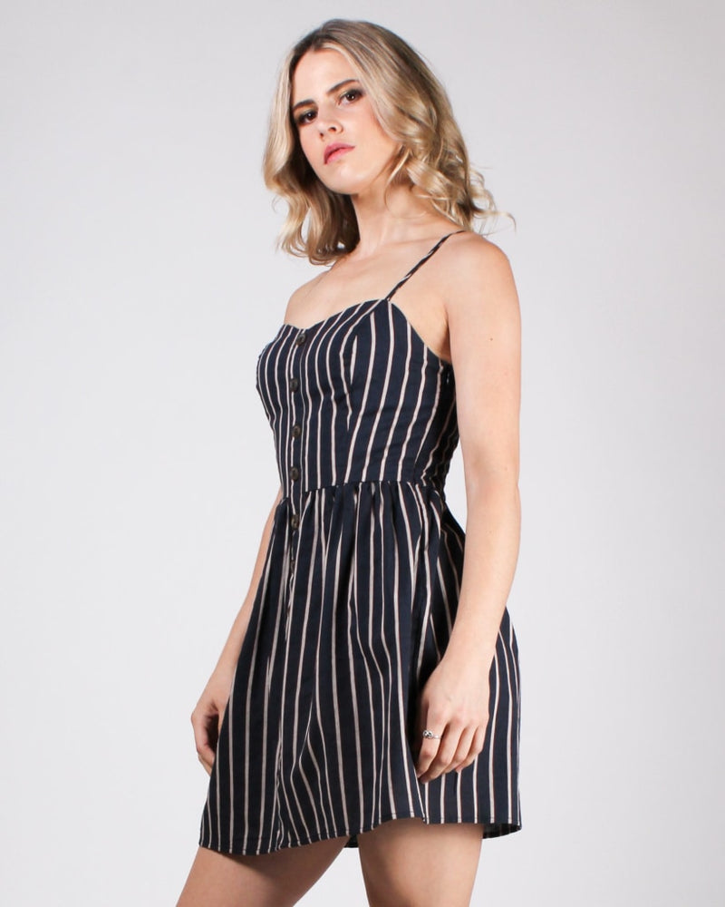 Sinfully Striped Sundress Navy / S Dresses