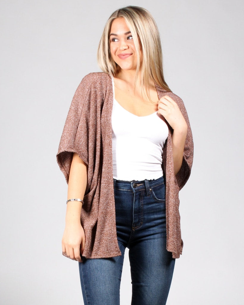 Skies The Limit Cardigan S / Tan Outerwear