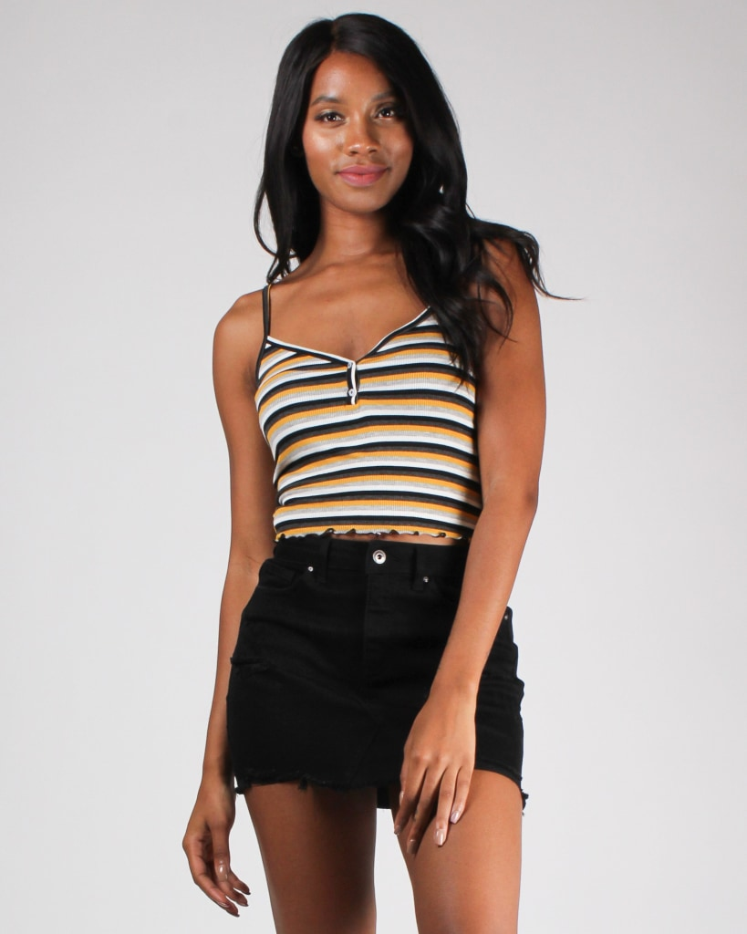 Soul Full Of Sunshine And Stripes Top Black Combo / S Bottoms