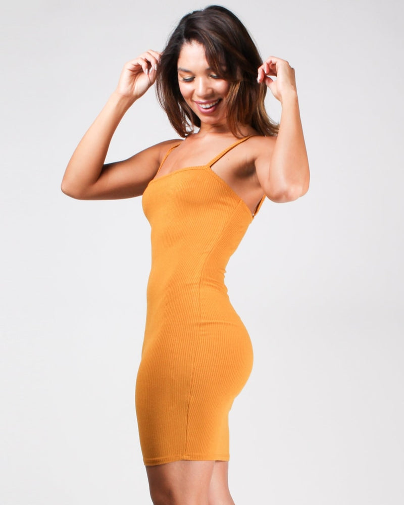 Speechless Bodycon Dress Butterscotch / S Dresses