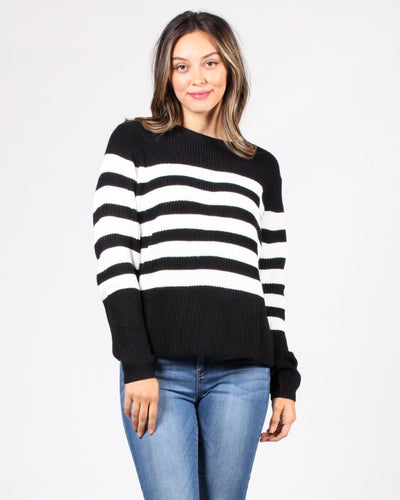 Stripes R Us Sweater S / Black Tops