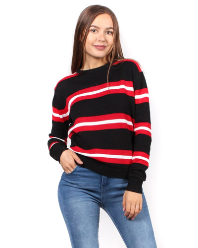 Sweet Stripes Of Mine Sweater S / Black