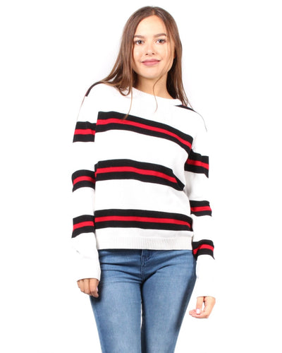 Sweet Stripes Of Mine Sweater S / Ivory