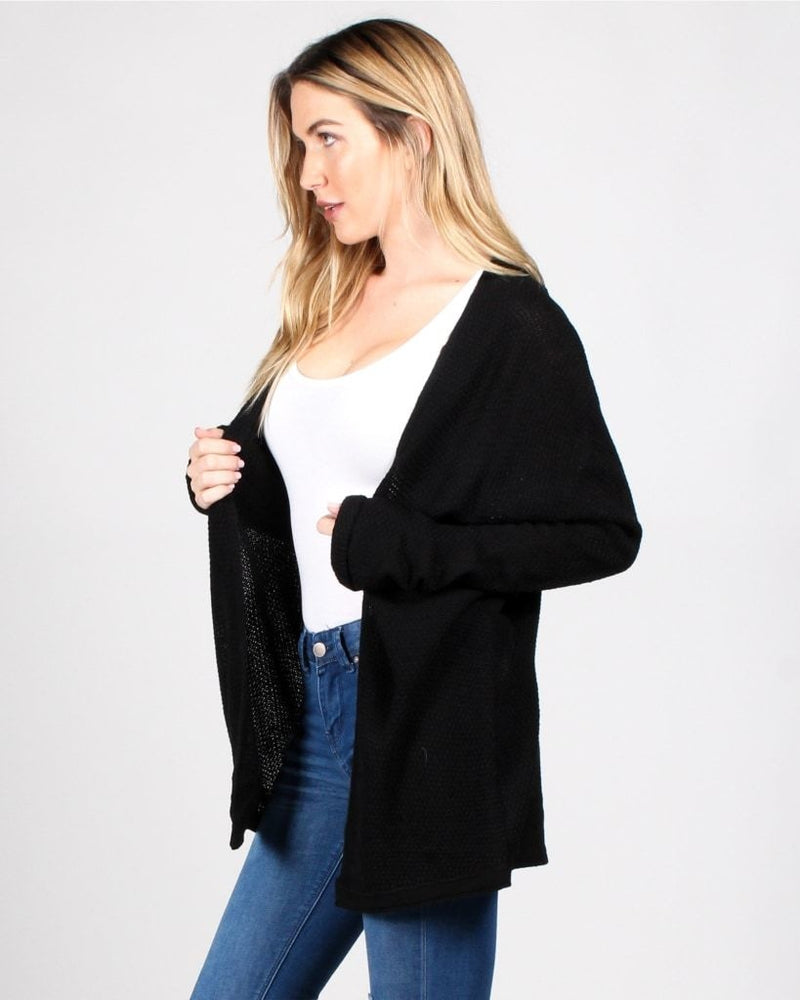 Tag Youre It Cardigan (Black) Black / Sm Outerwear