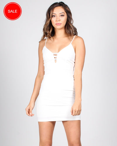 Target Acquired Bodycon Dress S / Ivory