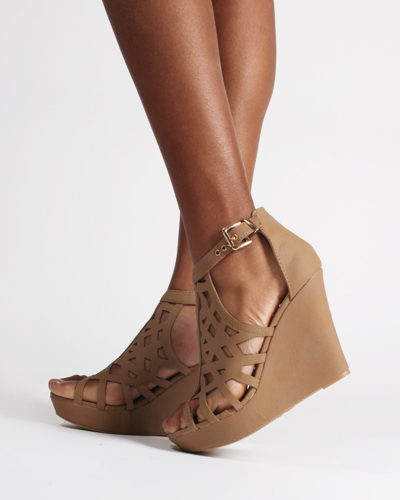 The Alexandria Wedges Tan / 5 Shoes