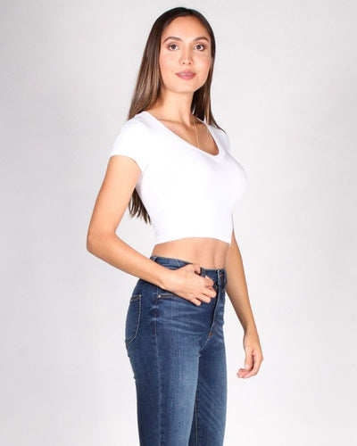 The Answer Crop Top (White) Tops