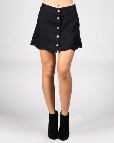 The Apple Of My Eye Mini-Skirt S / Black Bottoms