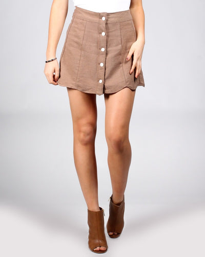 The Apple Of My Eye Mini-Skirt S / Darker Tan Bottoms