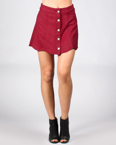 The Apple Of My Eye Mini-Skirt S / Wine Bottoms