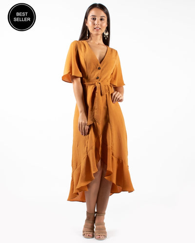 The Attention Grable Dress S / Mustard Dresses