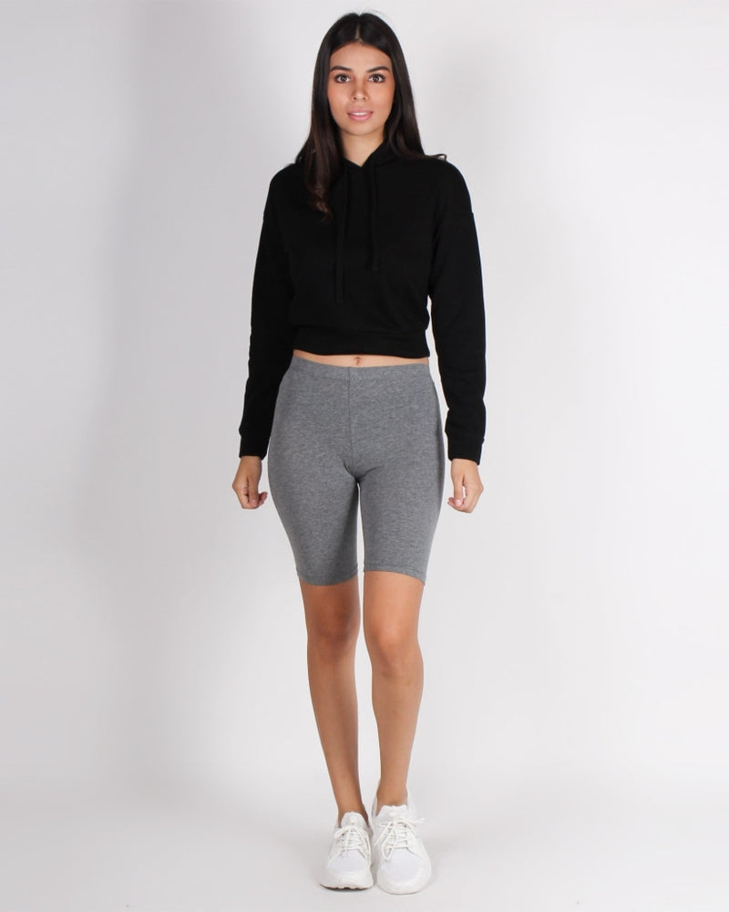 The Badass Biker Shorts (Medium Heather Grey) Medium Grey / S