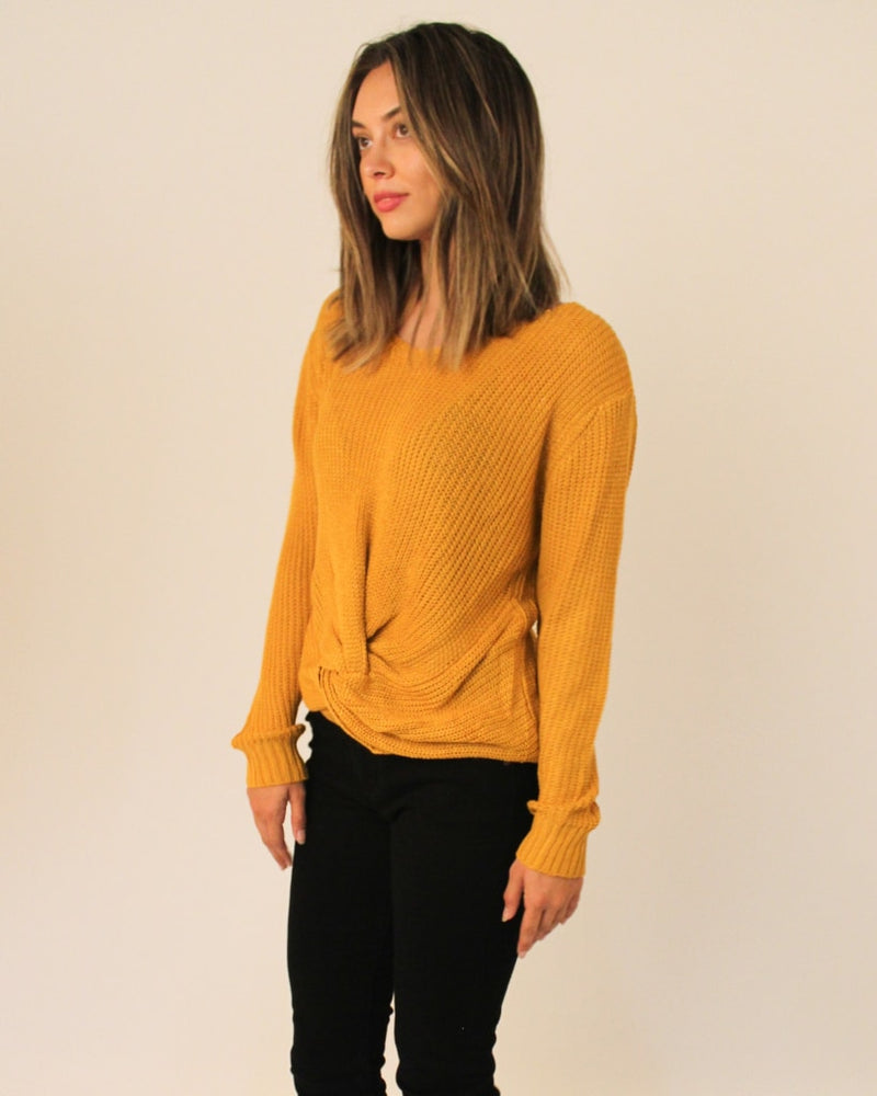 The Blair Knit Sweater S/m / Mustard Tops
