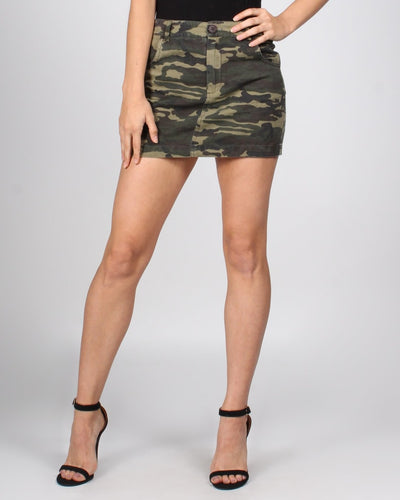 The Calvary Has Arrived Skirt S / Green Camouflage Bottoms